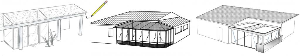 dessin veranda