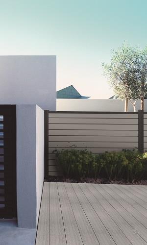 Terrasse en bois composite - clôture en bois composite