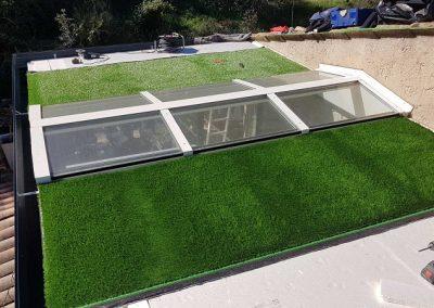 Extension aluminium veranda Le Rouret avec toiture Végétalisée2