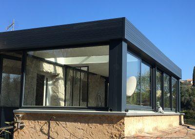 Extension aluminium veranda Le Rouret4